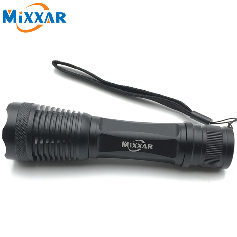 ZK90 CREE E17 XM-L T6 4000LM Zoomable LED Flashlight Aluminum Waterproof 5 Mode Torch Light for 18650 Rechargeable Battery(China (Mainland))