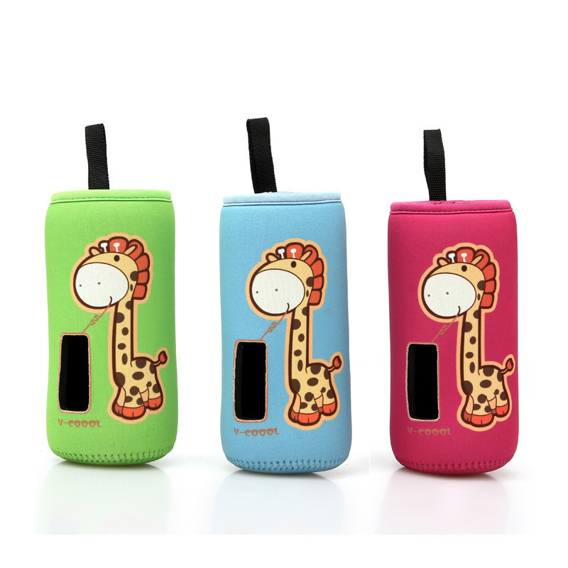 New design giraffe children Kid Feeding Bottle thermal insulate Warmer Cup Cushion Bags baby Thermos bottle cover L size 7*14cm(China (Mainland))