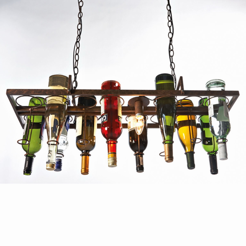 buy recycled retro hanging wine bottle led ceiling pendant lamps e14 light for. Black Bedroom Furniture Sets. Home Design Ideas