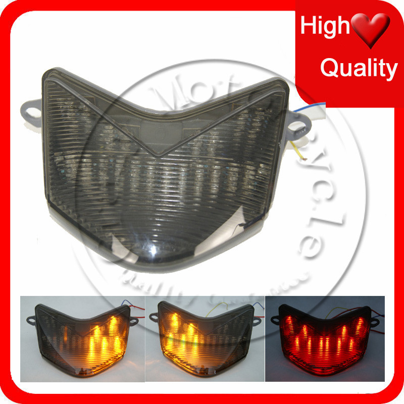 Motorcycle LED Brake Tail Light Turn Signal For KAWASAKI NINJA 636 ZX 6R 6RR Z750S ZX6R 2005 2006 Clear Color TailLight(China (Mainland))