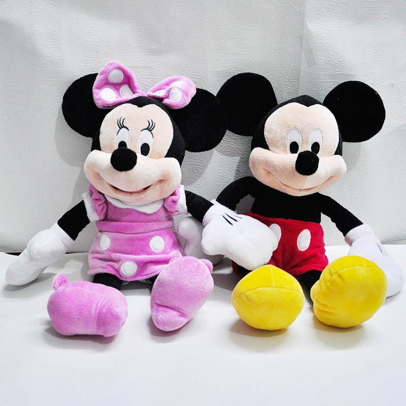 46cm 1 piece new disny toys lovely mickey mouse and minnie mouse stuffed soft plush toys Christmas gifts free shipping 0266(China (Mainland))