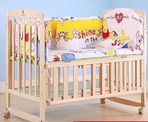 2015 new 5 Pcs/sets baby bedding set 100x60cm cotton curtain crib bumper baby cot sets baby bed bumper <br><br>Aliexpress