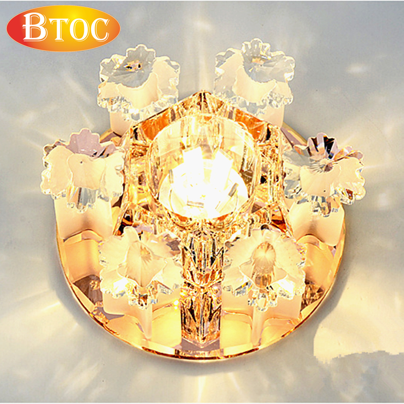 2015 new crystal lamp ceiling lamp ceiling lamp ceiling or embedding can be, corridor light living room hall 3W AC220V 6LEDS