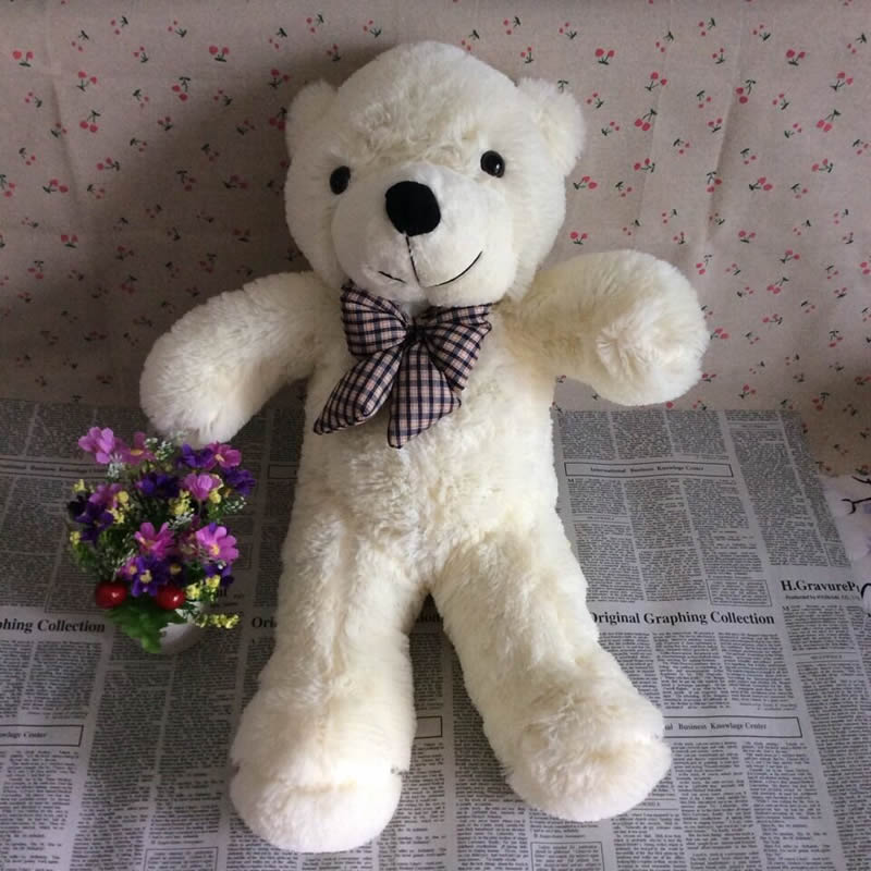 Free Shipping 55cm=21.6inch Teddy Bear Stuffed Animals Toys Plush Doll, Giant Stuffed White Bear Plush Toy For Birthday gift(China (Mainland))