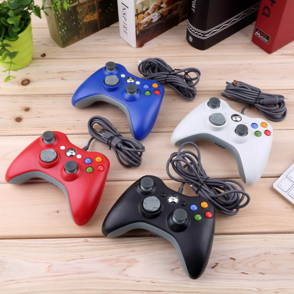 4colors USB Wired Joypad Gamepad Controller For Microsoft for Xbox for 360 for PC for Windows7 Joystick Game Controller(China (Mainland))