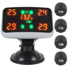 Digital Car Tyre Pressure y sistema de monitoreo de temperatura medidor Monitor 4 exhibición de los neumáticos