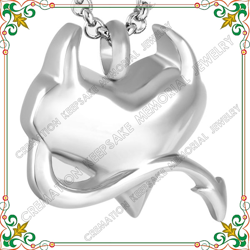 CMJ8250 Demon Heart Cremation Jewelry Stainless steel ashes pendants unique design memorial urn jewelry(China (Mainland))