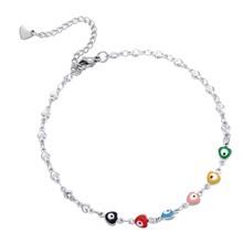 Korale plaża Anklet ze stali nierdzewnej bransoletka z krzyżem na nodze kobiety Slim regulowany drutu obrączki biżuteria letnia hurtownie(China)