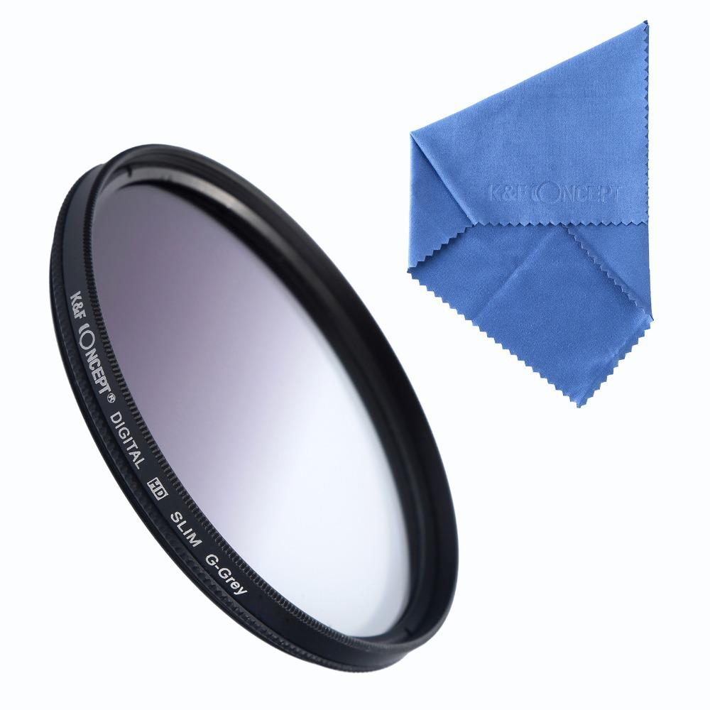 Slim Gradual Grey lens Filter 52mm 52 mm circle Graduated Gradual Color(China (Mainland))