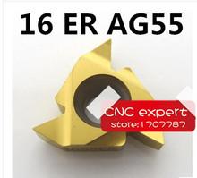 Buy Free 16ER AG55 Carbide Threading Inserts 55 Deg External Threading Tips,Indexable Inserts Threaded Lathe Holder SER for $22.05 in AliExpress store