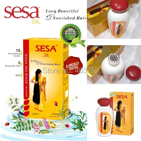 India Sesa Hair Oil For Healthy Hair Prevents Dandruff Hair loss Greying of hair 100% Ayurvedic 90ml(China (Mainland))