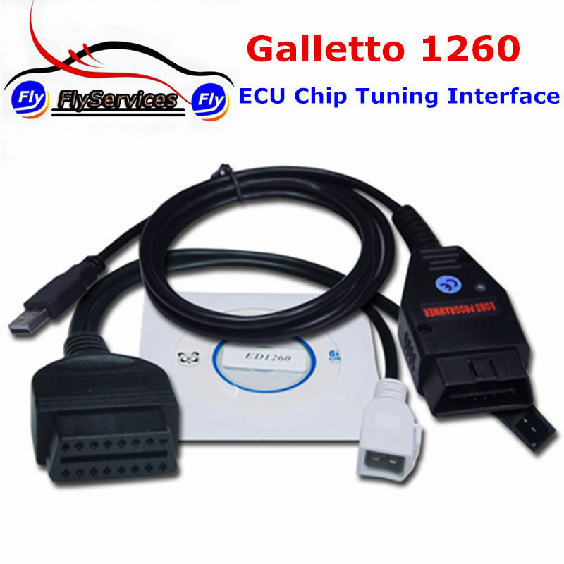 EOBD Tuning Tools Galleto 1260 EOBD2 Diagnostic Interface Galletto 1260 Interface With Multi Languages(China (Mainland))