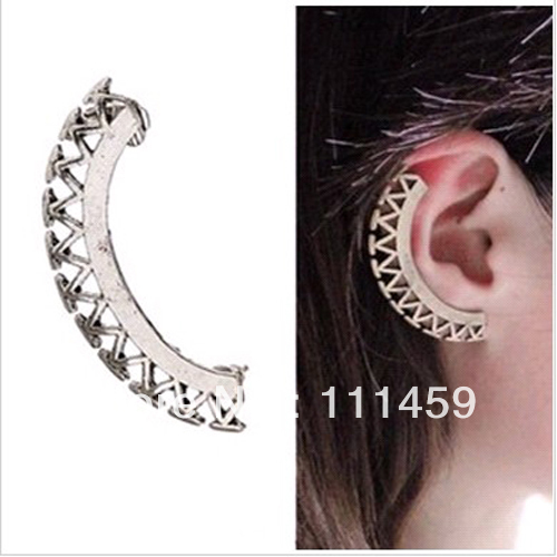 2013 new Punk Jewelry Fashion stud Ear Cuff vintage Clip Earrings 0406068 free shipping(China (Mainland))