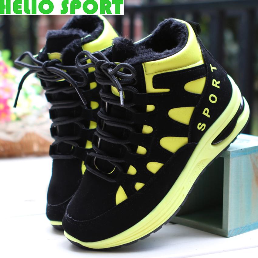 Winter running shoes women high top plush lining women sport shoes sneakers<br><br>Aliexpress