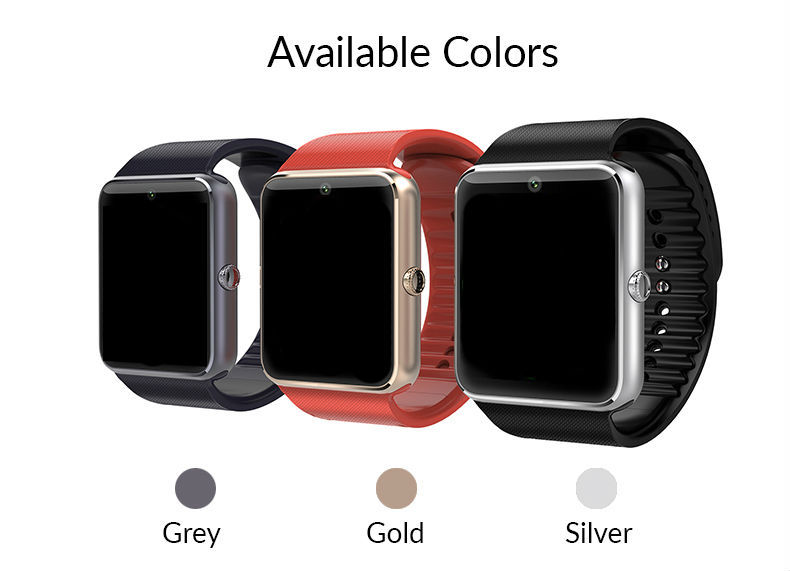 Smart <font><b>Watch</b></font> GT08 Clock Sync Notifier With Sim Card Bluetooth Connectivity iphone Android Phone Smartwatch Looks Like <font><b>Apple</b></font> <font><b>Watch</b></font>
