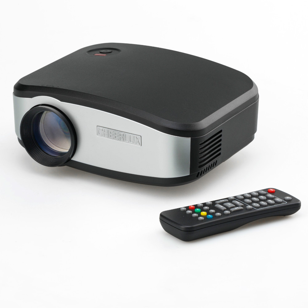 Brand New Cheerlux C6 mini projector for Video Games Home Entertainment with HDMI USB VGA TV input(China (Mainland))