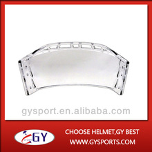 Fashion clear Outside Anti-scratch and Inside Anti-fog Hockey Visor with CE certificate