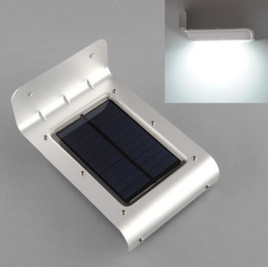 Solar LED Wall Lamps For Outdoor 16Leds Waterproof Spot Light For Home Garden Hallway Sound Sensor Lampen Path Security Lighting(China (Mainland))