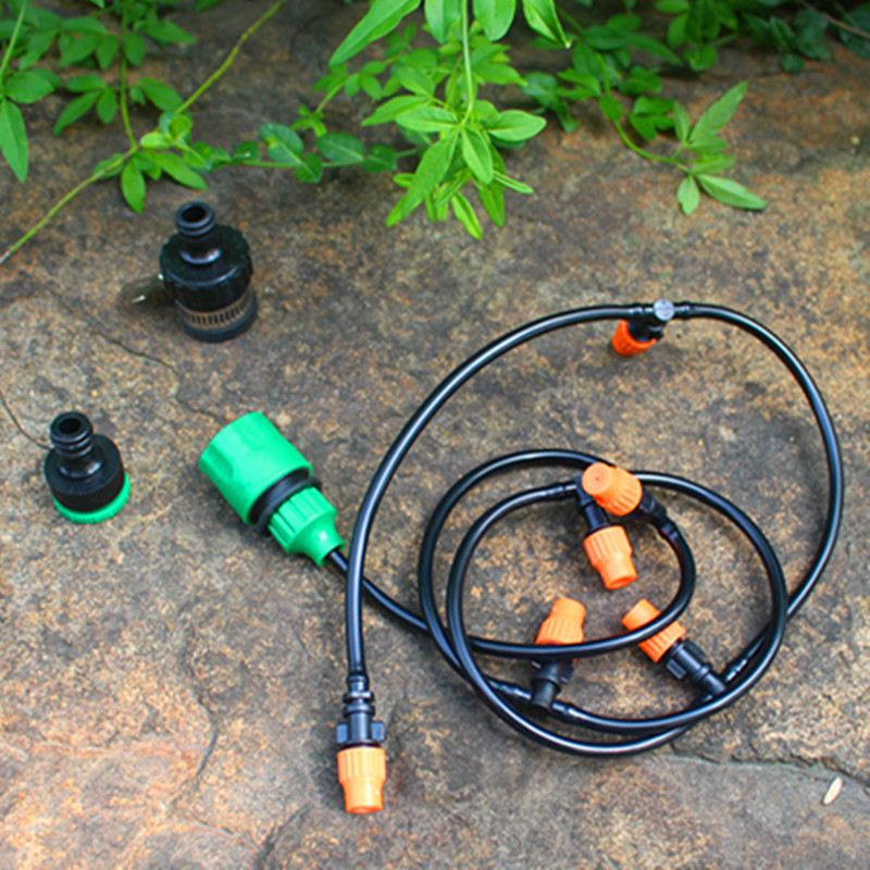 Adjustable Misting Sprinkler DIY Micro Drip Irrigation System Plant Self Watering Garden Veranda Water Irrigation Kits TZ1006(China (Mainland))
