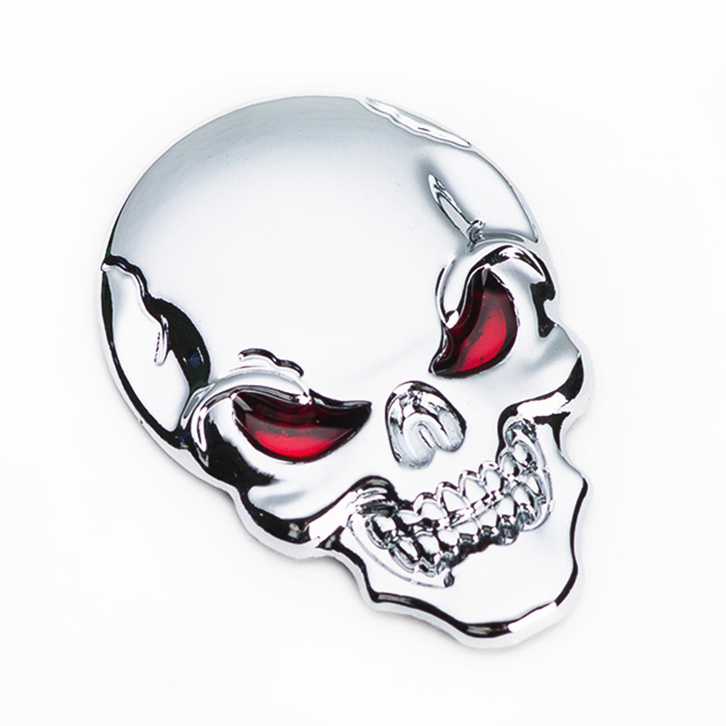 Car Decoration Motorcycle Sticker 3D Cool Metal Skull Car Sticker Motorcycle Truck Emblem Car Styling Accessories(China (Mainland))