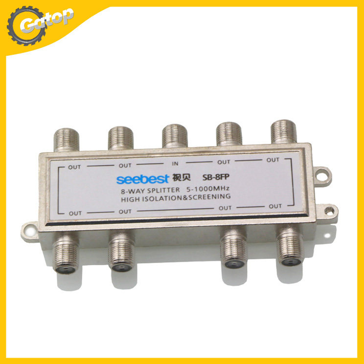 1 in 8 out 8 Way SATV Cable TV CATV LCD Splitter Antenna Switch(China (Mainland))