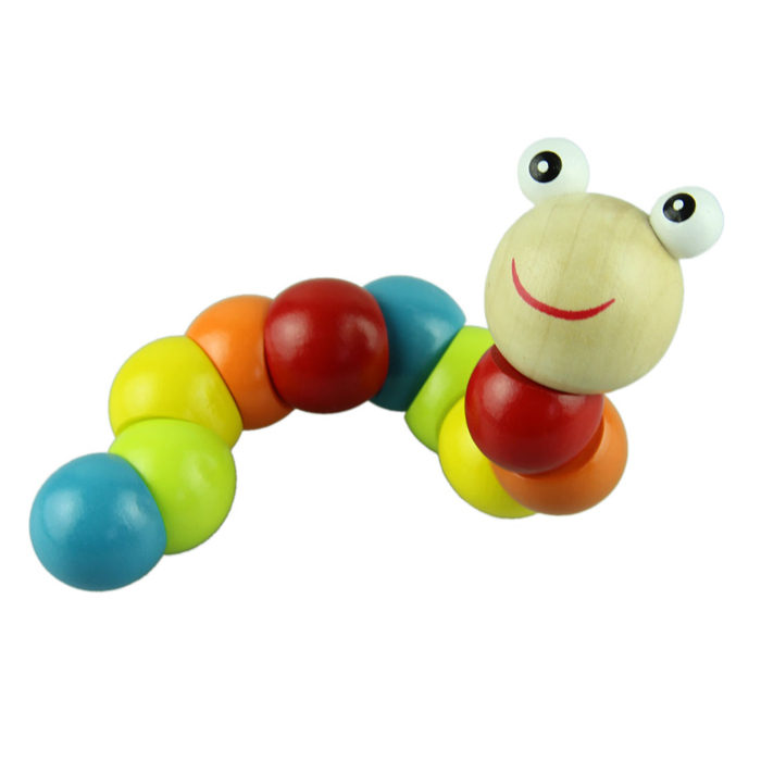 New Baby Toys Infant Twist colored Insects Wooden Toys Toddler Educational Toy 0 3 Years free