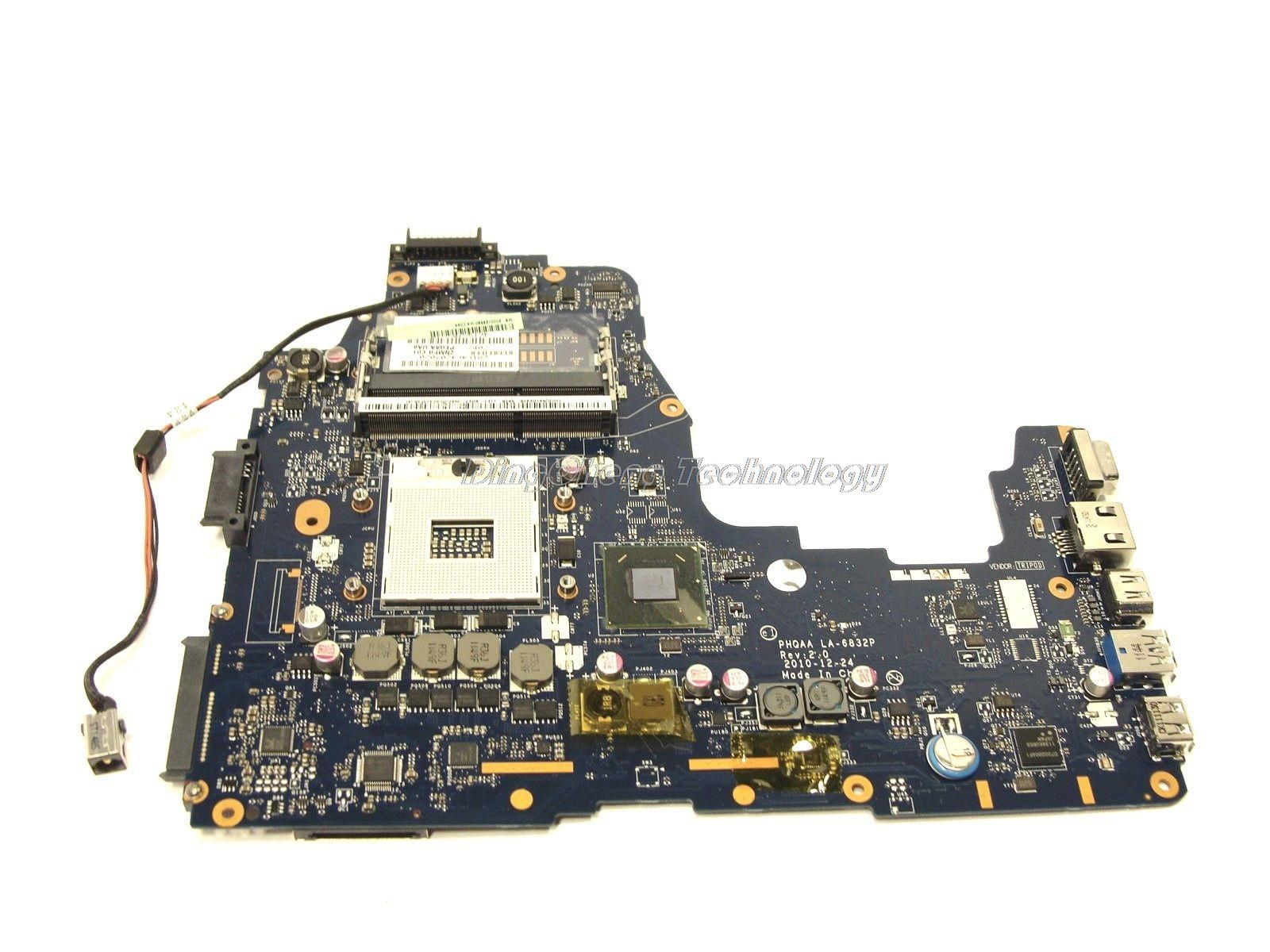Original laptop Motherboard For Toshiba Satellite A660 A665 PHQAA LA-6832P K000125630 Rev 2.0 integrated graphics card(China (Mainland))