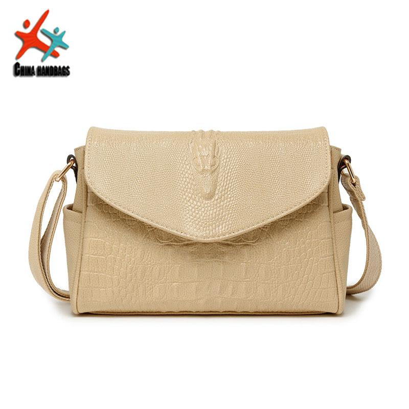 2015 new Alligator genuine leather bags for women Fashion messenger Shoulder bags ladies designer handbags high quality clutch(China (Mainland))