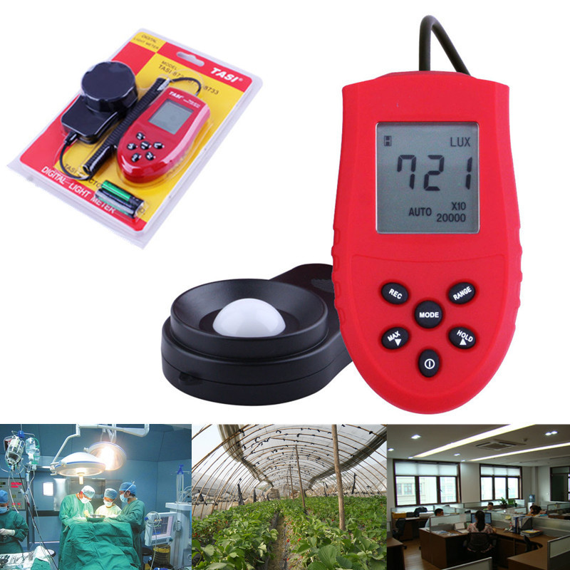 High Accurate 200000 Lux Digital Light Meter Tester Photometer Luxmeter