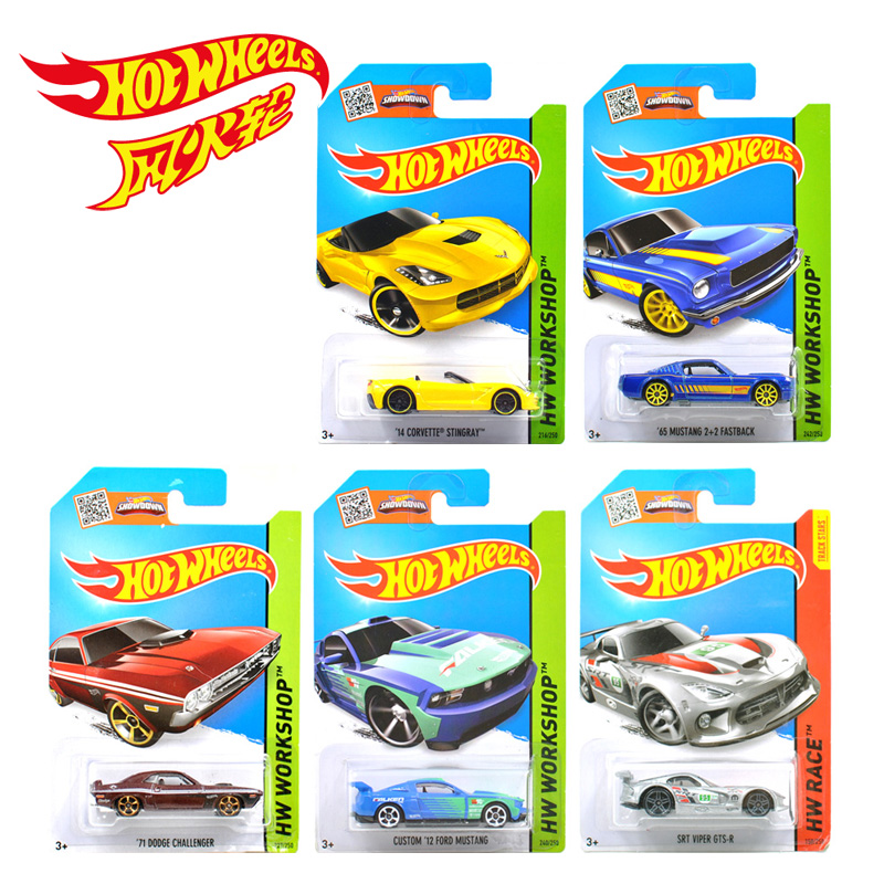 Free Shipping hot wheels toy cars 1:64 alloy car kids toys FORD MUSTANG CORVETTE STINGRAY DODGE VIPER(China (Mainland))