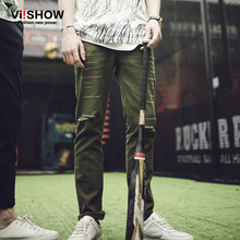 Viishow Fashion Denim Pants Europe Style Ripped Jeans Fashion Men's Holes Trousers Jeans Men Clothes N103961