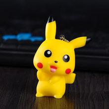 Criativa dos desenhos animados do rato bonito pikachu senhoras saco carro chaveiro chave pingente anel keychain brinquedos de pelúcia presente de aniversário de Natal(China)