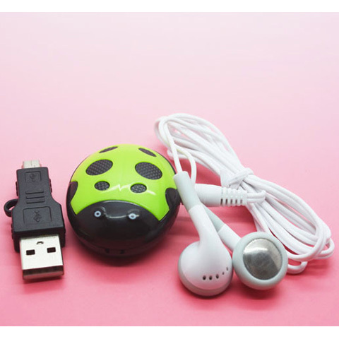 Hot Sell 1 pcs/lot High Quality Mini Cute Beatles Shaped MP3 Music Player Gift MP3 Players With Earphone&Mini USB(China (Mainland))