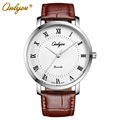 Relogio Masculino Feminino Onlyou Brand Japan Imported Steel Quartz Movement Genuine Leather Watch Men Women Wristwatches