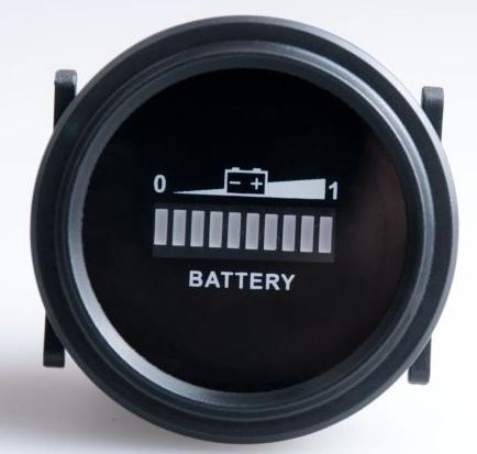 Free shipping RL BI002 Round LED Battery Indicator 12v 24v 36v 48v 72v RV S Golf