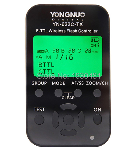 Yongnuo YN-622C TX LCD Wireless TTL Flash Receiver Transceiver 1/8000s Controller Trigger for Canon Camera(Hong Kong)