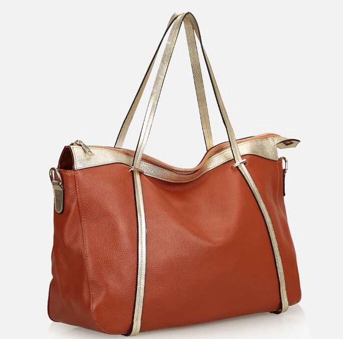 Fashionable casual shoulder bags genuine leather handbag shopping bag for women big cowhide leather women's bag large capacity(China (Mainland))