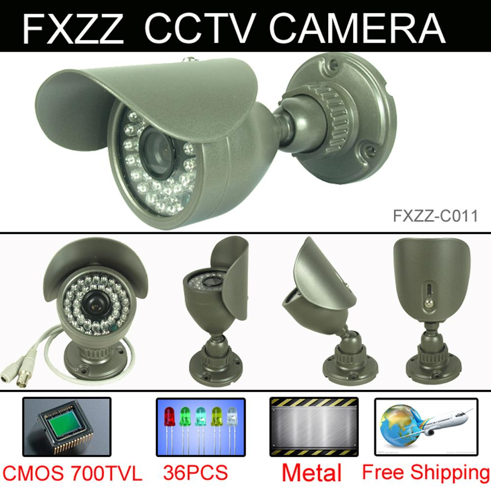 Free Shipping CCTV Camera 700TVL Security Camera CMOS 960H 36pcs IR leds Day night waterproof indoor Outdoor With bracket<br><br>Aliexpress