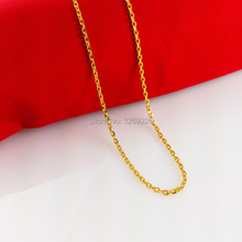 Hot sale wholesale new item 0 letter shaped circular Gold chain 24 karat gold women Pendant Necklace(China (Mainland))