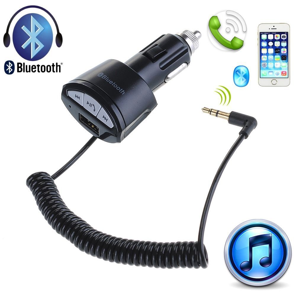 Bluetooth 3.0 A2DP 3.5mm AUX Stereo Audio Receiver Adapter Handsfree USB Car Charger For iPhone 6 Plus Samsung Galaxy S5 S4 Note<br><br>Aliexpress
