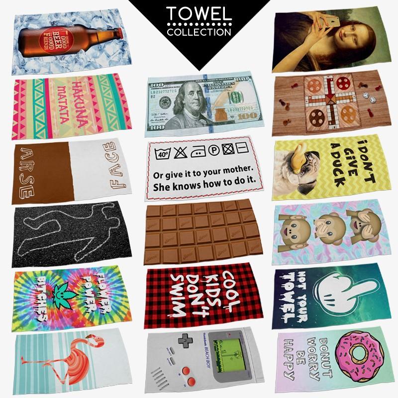 2015 summer style beach towel bath towel plus size big large rectangle 3d print towel chocolate beach boy beer aztec(China (Mainland))