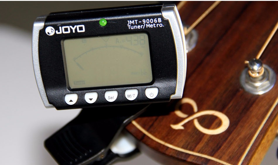 ACCORDATORE METRONOMO CLIP JOYO JMT-9006B LCD CHITARRA VIOLINO UKULELE BASSO