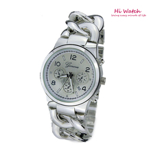Marca de fábrica superior de la torcedura de la cadena de pulsera fresca ginebra relojes mujeres oro de ginebra del reloj Orologio Donna