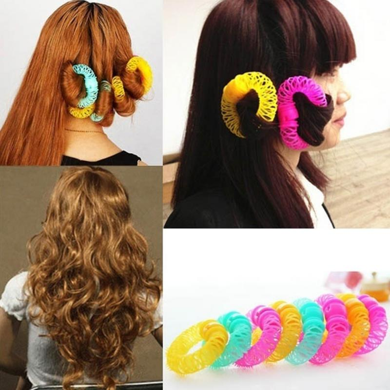 Fashion 8pcs Magic Hair Curler Spiral Curls Roller Donuts Curl Hair Styling Tool hair accessories(China (Mainland))