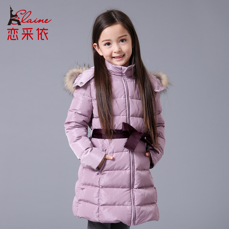 Фотография Winter Girls Snow Coat Children Outwear Coat Duck Down Paddad Kids Clothing Outfits Jackets Christmas Clothes
