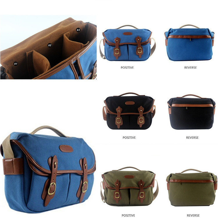 2015 New Arrival H130 Vintage Canvas DSLR Camera Bag Shoulder Messenger Bag for Canon Sony Nikon(China (Mainland))