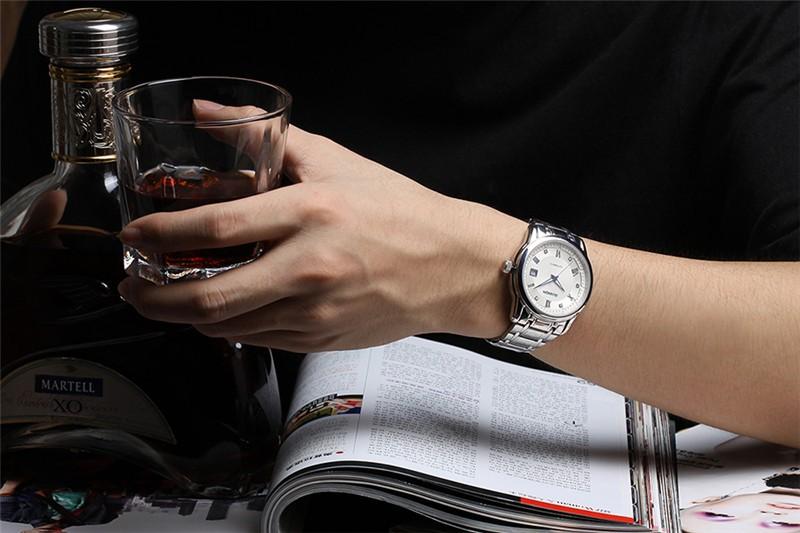 GUANQIN 2016 Люксовый Бренд Часы Мужчины Бизнес Случайный Световой Наручные Часы Военные Спортивные Relogios Masculinos Автоматические Часы