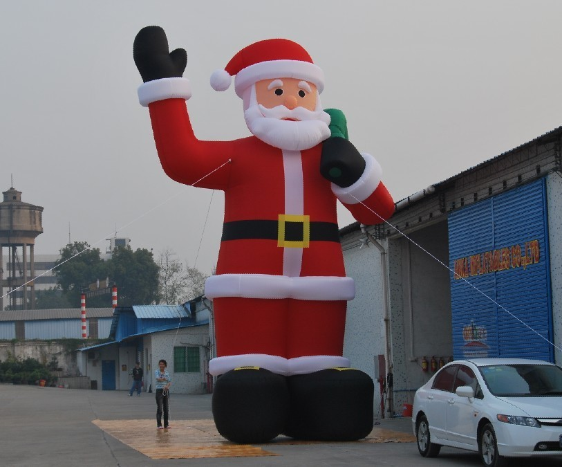 6m high inflatable giant christmas santa claus, inflatable air dancer with blower freeshipping for advertising(China (Mainland))