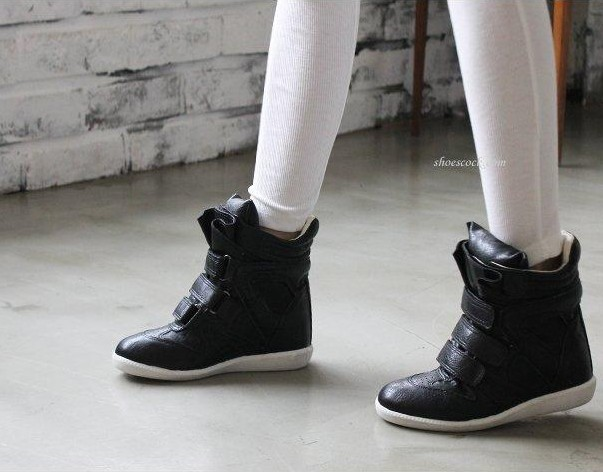 Korean Shoes High Tops Girls High Top Leisure Shoes