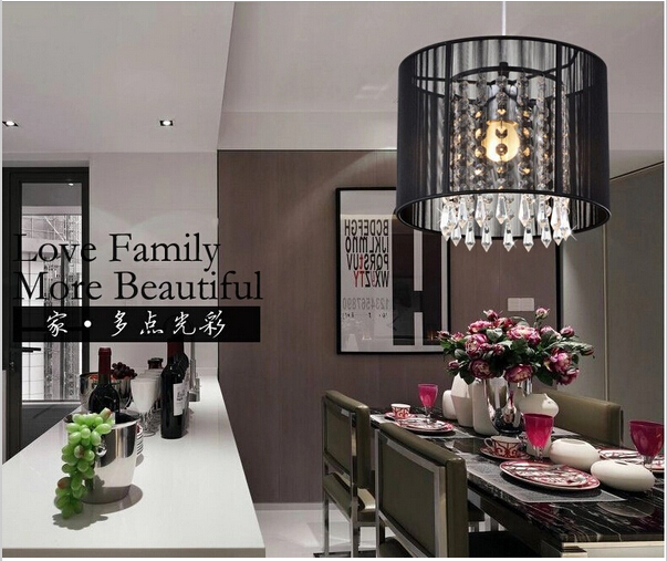 Modern freeShipping 5W led lustre light Black Silver Brushed LED Crystal Chandeliers with LED Blub;W25CM*H19CM(China (Mainland))